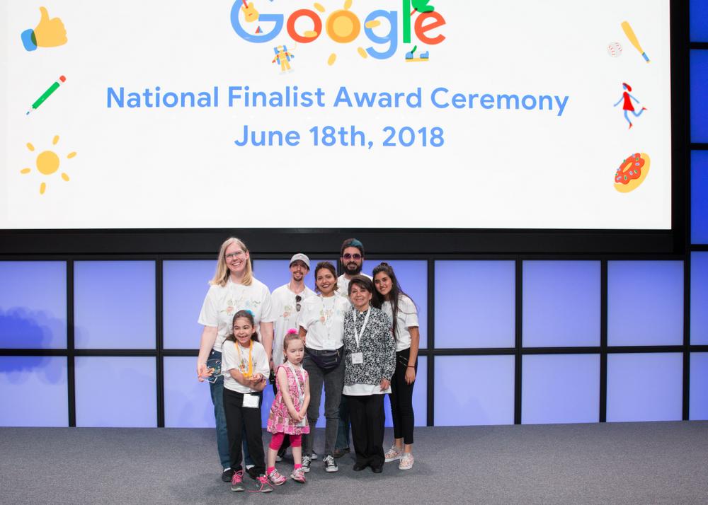 doodle 4 google winner on stage