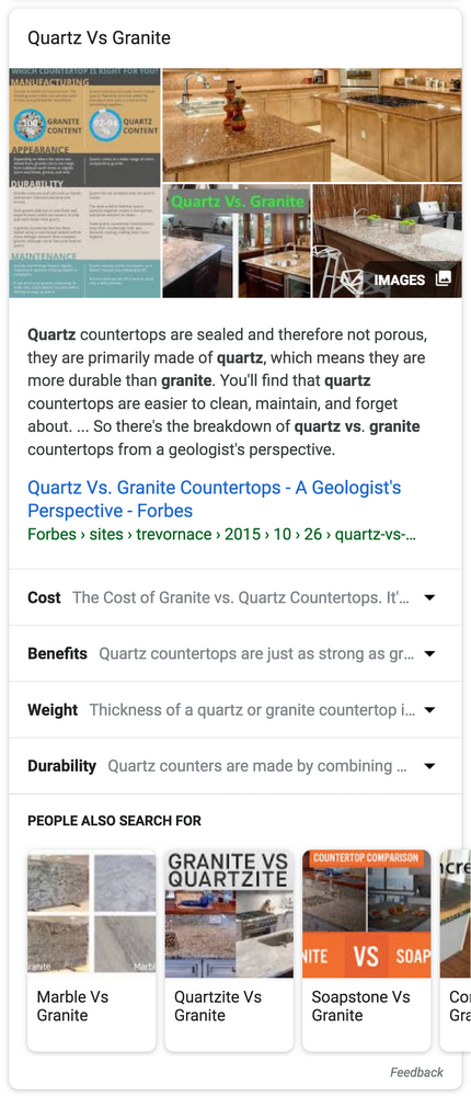 quarts vs. granite