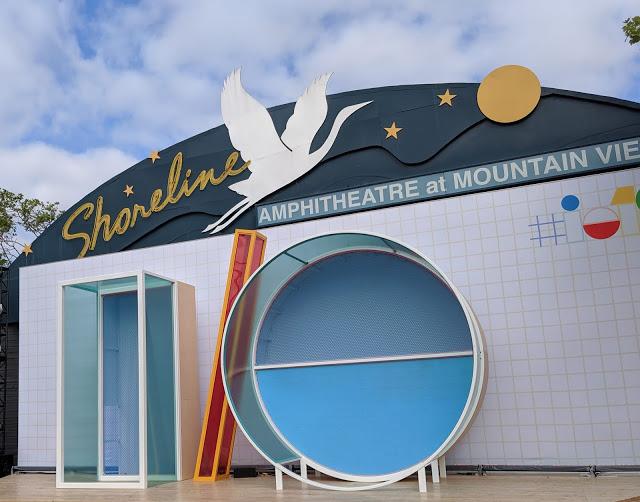 The Google I/O sign at Shoreline Amphitheatre at Mountain View, CA