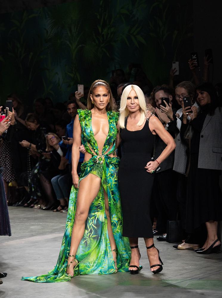 J.Lo and Donatella Versace