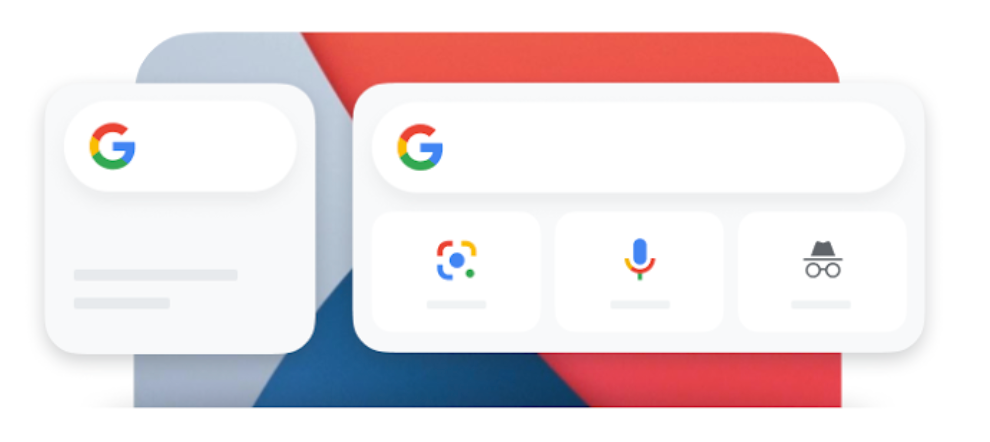 iOS Homescreen Google Search Widget