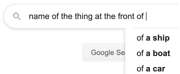 Autocomplete name of a thing